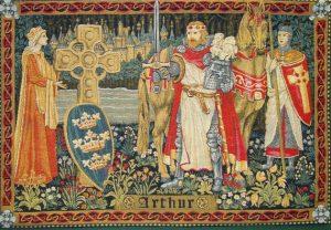 A Rainha Guinevere, o rei Arthur e o cavaleiro Lancelot l Gráfica Cores