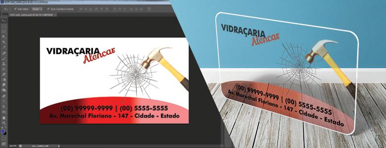 Cartão de Visita PVC Transparente l Gráfica Cores